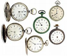 Pocket watches- 6 (Six), all Waltham, 18 size