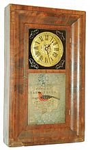 Chauncey Jerome, Bristol, Conn., 30 hour, time and strike, OG shelf clock. c.1840