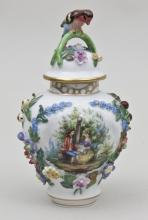 Deckeldose, Carl Thieme Potschappel, Dresden, Marke ab 1901