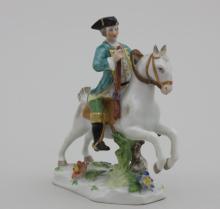 Reiterfigur/ Huntsman Riding Horse, Carl Thieme, Potschappel, um 1920