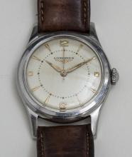 Herrenarmbanduhr/Gents Wristwatch, Longines, Schweiz 1960