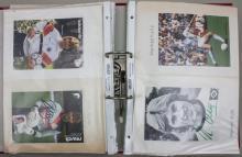 Ordner Autogrammkarten vorwiegend Fußballer/ Autographs Of German Soccer Player, 1980er Jahre