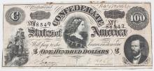 Historische Banknote Südstaaten Amerika 1864/ Historical Note Confederate States