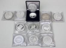 Lot 12 Silbermünzen, Olympische Spiele/ Lot 12 Silver Coins, Olympic Games, Barcelona 1992