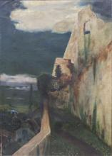 Gustav Arnold Thornam (Kopenhagen 1877-?), Burgruine/ Castle Ruin, 1896