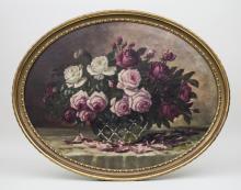 Otto Geiler, Rosenstillleben/ Still Life With Roses, 1925