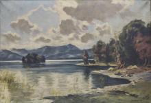 Sign. Brütting, Landschaft am Starnberger See/ Landscape With Lake, 1941