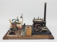 Dampfmaschine mit Zubehör/ Steam Engine, u.a. Fleischmann