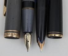 Lot 2 Montblanc-Kolbenfüller + 11 weitere/2 Montblanc Fountainpens + 11 Others