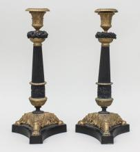 Epoche Restauration Paar Kerzenleuchter/ Pair of Candelsticks, Paris, um 1825