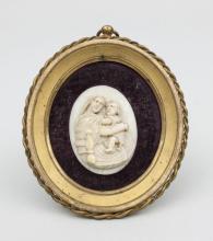 Elfenbeinminiatur Madonna mit Kind/ Ivory Miniature Madonna With Child