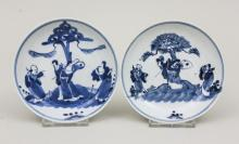 Paar kleine Teller/ A Pair Of Porcelain Dishes, China, 18. Jh.