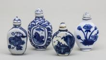 Lot 4 Snuffbottle/ 4 Chinese Snuff Bottles, China, 20. Jh.