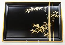 Lacktablett/ Lacquered Tray, Japan, Meiji-Periode