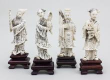 Lot 4 Okimono-Schnitzereien/Okimono, Japan, Meiji-Periode