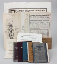 Lot Dokumente Nachlass Otto Faber (Mannheim)/ Documents, 1901-1943