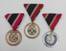 3 Bergbauorden/ Honor Medals Of Mining, Ungarn