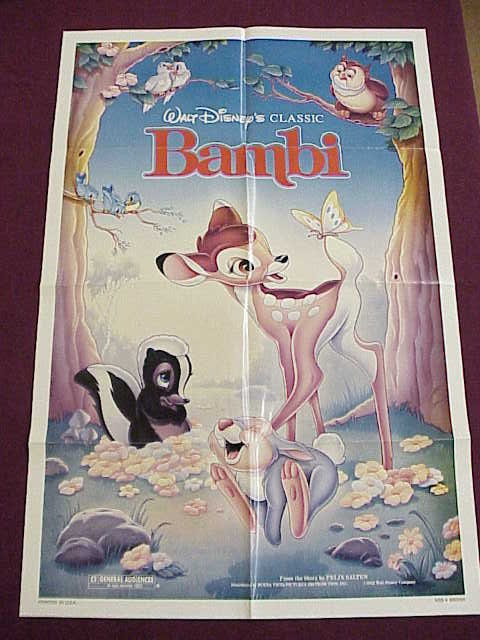 Poster - Bambie - Disney - 27x41 Folded