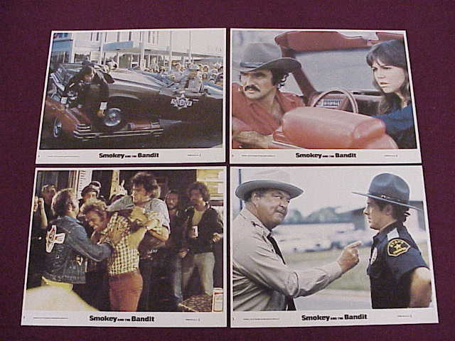 4 8x10 Lobby Cards - Smokey and the Bandit