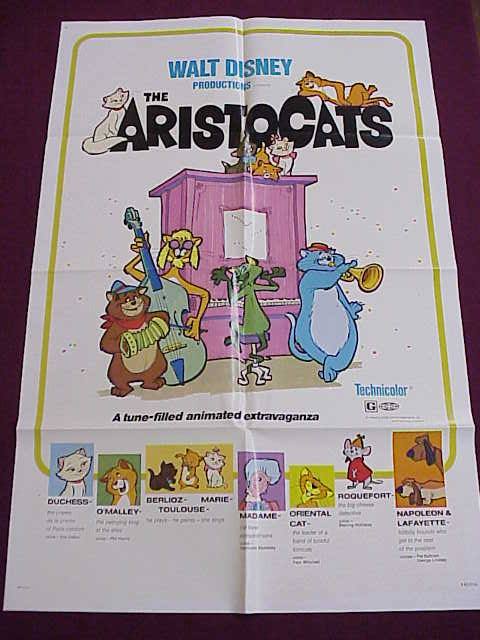 Poster - Aristocats - Disney - 27x41 Folded