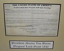 Original 1814 Martin Van Buren Land Grant