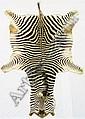 Zebra skin rug, 118ins. (300cms.) long (see