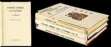 BURKHARDT, V.R. - 'Chinese Creeds & Customs' - 3-volume set,