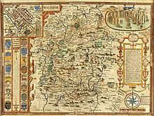 SPEED, John - Wilshire - hand-coloured map engraving, 1627
