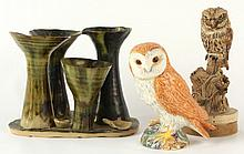 A Beswick model of a Barn Owl, 4.65ins. (11.8cms.) high; to