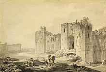 Attributed to Paul Sandby (1731-1809) - CASTLE RUINS WITH F