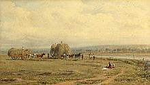 George Arthur Fripp (1813-1896) - HAYMAKERS - watercolour, 1