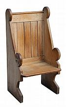 A late 19th / early 20th century carved oak Churc