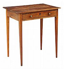 A small George III fruitwood side table, with frie