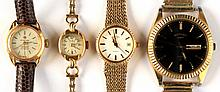 Four assorted wristwatches including a lady's Ben