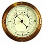A mid C20th brass bulkhead aneroid barometer,