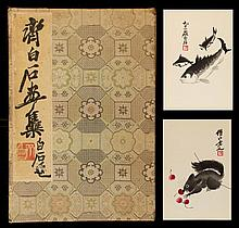 An album of twenty-two woodblock prints of Qi Baishi (1864-1957), published