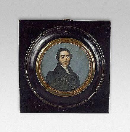 ECOLE FRANCAISE VERS 1830 PORTRAIT D'HOMME A LA