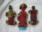 3 African Fertility dolls