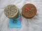 2 quill and birch bark lidded baskets, North Eastern Native American