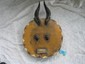 Kpele African moon mask yellow