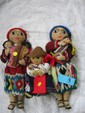 2 Vintage Guatemalan Mother Dolls + 1