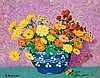 GARI MELCHERS, American (1860-1932), Still Life with Flowers, oil on canvas, signed lower left., 16 1/8 x 21 1/8