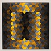 VICTOR VASARELY, French (1906 - 1997), Homage to the Hexagon, silk screen, signed lower right, numbered 162/200 lower left, blindsta...