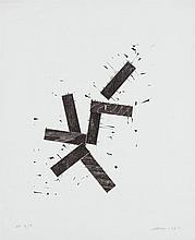 JOEL SHAPIRO, American (b. 1941), Untitled, woodcut on mold made J. Whatman 1958 paper ,