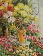 LOUIS ASTON KNIGHT, American (1873-1948), The Floral Shop, oil on panel, signed lower left, inscribed on the reverse,