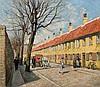 PAUL GUSTAVE FISCHER, Danish (1860-1934), A Copenhagen Street, oil on canvas, signed lower right., 20 x 22 1/2, Paul Fischer, $3,000