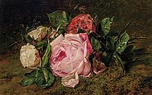 ADRIANA JOHANNA HAANEN (attributed), Dutch (1814-1895), Floral Still Life, oil on panel, signed lower left and dated 1870., 9 3/8 x...