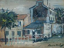 MAURICE UTRILLO, French (1883-1955), Le Lapin Agile, Mixed media on wood laid down on a cradled panel, signed lower right., 10 3/4 x...
