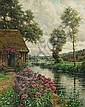 LOUIS ASTON KNIGHT, American (1873-1948), A Tranquil Setting, oil on canvas, signed lower left and inscribed