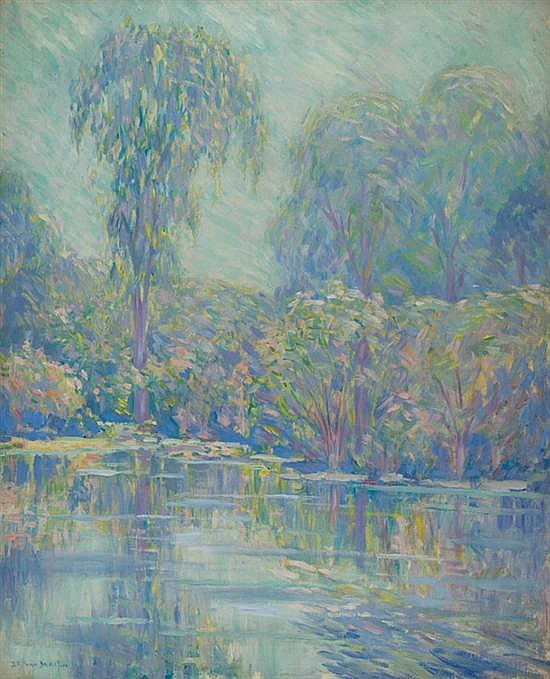 DANIEL PUTNAM BRINLEY American (1879-1963) Pond In Spring oil on canvas, signed lower left.